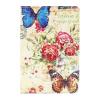 AppleKing Védő borító kártytárolóval iPad mini 4 - rózsák és lepkék