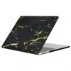 """AppleKing Védő műanyag borító / fedél MacBook Pro 13"""" (model A1706, A1708) - fekete-arany márvány minta"""