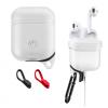 AppleKing Vízálló és porálló szilikon védőtok Apple AirPods készülékhez - fehér