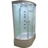 Aqualife Brill D1202 fehér aszimmetrikus zuhanykabin JOBBOS