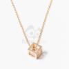 Arany bevonatos kocka medálos nyaklánc jwr-1407