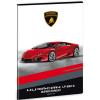 Ars Una Lamborghini négyzethálós füzet A/4 piros