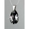 ART CRYSTELLA Nyaklánc, esőcsepp formájú, Black Diamond SWAROVSKI® kristállyal, 16mm, ART CRYSTELLA®