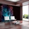 Artgeist Fotótapéta - Abstract lion - rainbow