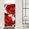 Artgeist Fotótapéta ajtóra - Photo wallpaper - Abstraction and red flowers I