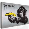 Artgeist Kép - Állj, vagy lő a majom! (Banksy)