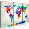 Artgeist Kép - World Map: An Explosion of Colors