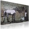 Artgeist Kép - Zebra mosás (Banksy)