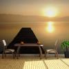 Artgeist XXL Fotótapéta - jetty, lake, sunset...