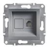 ASFORA Informatikai csatlakozóaljzat 1xRJ45, Cat6 UTP, acél burkolattal, keret nélkül ( Schneider electric EPH4700162 )