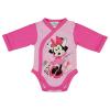 Asti Disney Minnie virágos hosszú ujjú baba body rózsaszín 68