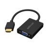Astrum DA450 HDMI - VGA + Audio Converter adapter fekete (aktív)