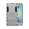 Astrum MC040 ütésálló kitámasztható Samsung S6 EDGE hátlapvédő ezüst