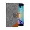 Astrum MC640 MATTE BOOK mágneszáras Samsung G925F Galaxy S6 EDGE könyvtok szürke