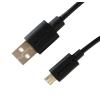 Astrum Micro USB bliszteres adatkábel fekete 1.2M 2A UD200