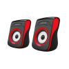 Astrum SU100 piros 2.0 csatornás 3,5MM multimédia hangszóró USB-s áramellátással 2 X 3W, A13510-N