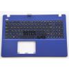 Asus X550 X550J X550C X550L X550VC K550 series fekete magyar (HU) laptop/notebook billentyűzet kék burkolattal (topcase)