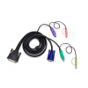 ATEN Cable (25M/SVGA, PS/2, PS/2, Audio) - 1.8m