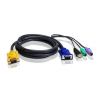 ATEN KVM Cable 3in1 SPHD (HDB15-SVGA, USB, PS/2, PS/2) - 1.8m