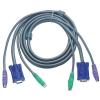 ATEN PS/2 VGA KVM kábel 5m