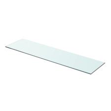 Átlátszó üvegpolc 80x20 cm fürdőszoba kiegészítő