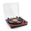 Auna auna TT370 retró lemezjátszó, hangszóró, USB, MP3, AUX, cseresznyefa