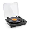 Auna auna TT370 retró lemezjátszó, hangszóró, USB, MP3, AUX, fekete