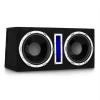 """Auna Basswaver X10L aktív autó subwoofer, 2 x 25 cm (10""""), 2100 W, LED"""