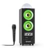 Auna DiscoStar Green, hordozható 2.1 bluetooth hangfal, USB, akkumulátor, LED, mikrofon