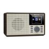 """Auna DR-160 BT, DAB+/FM rádió, USB, AUX, 2.4"""" TFT kijelző, távirányító, fa"""