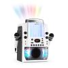 Auna Kara Liquida BT karaoke készülék, fény-show, szökőkút, bluetooth, fehér/szürke