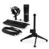 Auna MIC-900B V1 USB mikrofon szett, fekete kondenzátor mikrofon | asztali állvány
