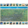 Ausztria panorámatérképe falitérkép - f&b