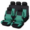 Autófejlesztés Univerzális üléshuzat garnitúra fekete-zöld (osztható) Exlusive