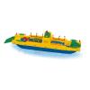 Autószállító komp nagy műanyag játékhajó