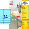 Avery 3449- 70x37mm kék Avery 100 lap/dob Etikett