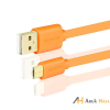 AXAGON BUMM-AM10QO USB 2.0 A - micro USB 2.0 B 1 m narancs kábel
