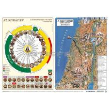 Az egyházi év és a Szentföld képes térképe térkép
