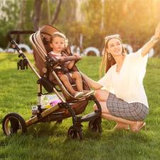 Babakocsi 3 az 1-ben hordozható gyereküléssel és autósüléssel babakocsi