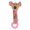 BABY MIX Gyermek sípolós plüss játék rágókával Baby Mix egérke rózsaszín | Rózsaszín |