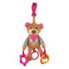 BABY MIX Vibrálós gyerek plüss játék Baby Mix maci rózsaszin | Rózsaszín |