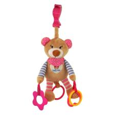 BABY MIX Vibrálós gyerek plüss játék Baby Mix maci rózsaszin | Rózsaszín | plüssfigura