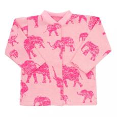 BABY SERVICE Baba kabátka Baby Service Elefánt rózsaszín