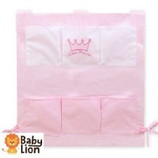 BabyLion BabyLion Prémium Zsebes tároló kiságyra - Rózsaszín - Princess lakástextília