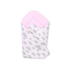 BabyLion Prémium pólya - Rózsaszín - Szürke felhők pólya