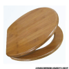 BAMBUSZ WC ÜLŐKE - WC deszka erős bambuszfából készült. WC tető EU. szabvány méretű és állítható fémzsanéros vécé tető