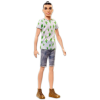 Barbie Fashionistas: vékony Ken baba kaktusz pólóban