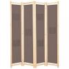 Barna 4-paneles szövetparaván 160 x 170 x 4 cm