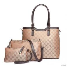 Barna Miss Lulu London LT1749-18M BN Miss LuLu elegáns Designer kézi táska bevásárló táska táska 3PCs barna