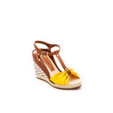 Barna Montonelli Prémium Valódi Bőr női barna magassarkú cipő 37 /kac